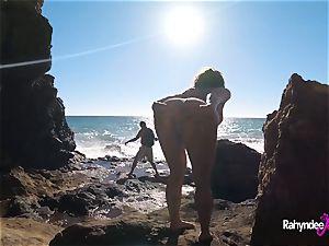 Rahyndee James public beach porking pov