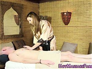 super-fucking-hot masseuse fingerblasted