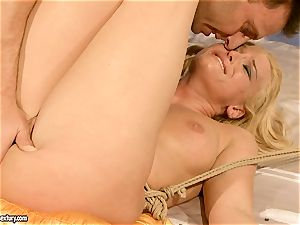 torrid Kathia Nobili gets her snatch crammed with dick