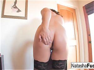 Natasha porks Her backside With a Purple fucktoy