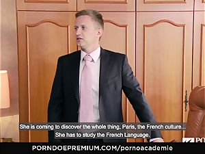 porn ACADEMIE Lana Rhoades loves penetrating French pecker