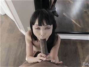 lil' chinese babe Marica Hase cant wait for that big black cock