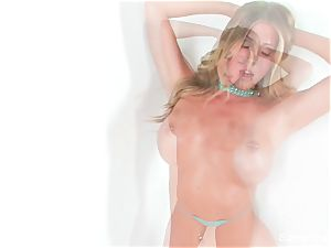 sexy solo sequence with platinum-blonde babe Samantha Saint