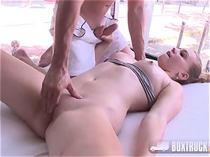 incredible Eva Briancon gets finger-tickled in Public