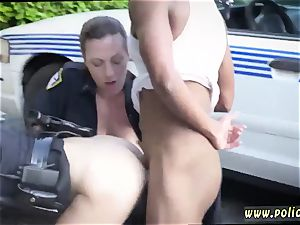 big dark-haired cougar and pummeled by police baton first time I will catch any perp with a