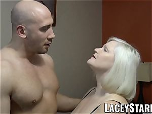 LACEYSTARR - GILF seduces large dicked hunk into tearing up