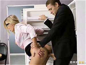 Office pornography with super-naughty fresh assitant Jessa Rhodes and her phat boss Keiran Lee