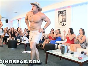 CFNM motel soiree with immense sausage male Strippers