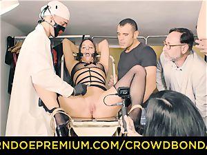 CROWD bondage subordinated Amirah Adara first time sadism & masochism