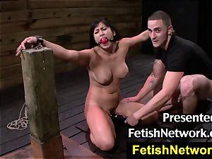 FetishNetwork Mia Li fettered and plumbed