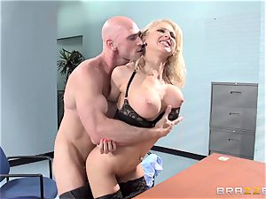 wondrous office stunner Alix Lynx takes a second helping