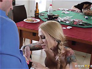 Sarah Jessie tearing up her husbands poker acquaintance
