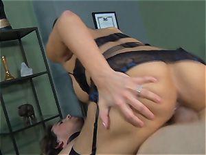 Mercedes Carrera gets an employees man meat deep inwards her