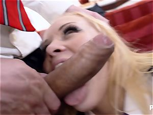 youthful Russian chick ass-fucked by two lecturers