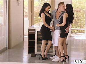 VIXEN torrid Latina Shares Her beau With roommate