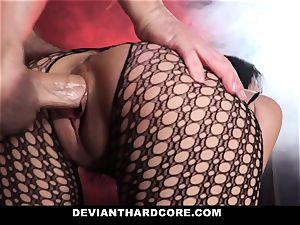 DeviantHardcore wild asian Gets cock-squeezing honeypot flogging