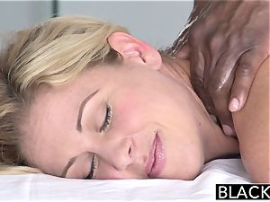 BLACKED hot Southern ash-blonde Takes massive black trunk