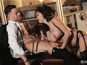 super-hot office sweetie Peta Jensen has hook-up with her workers after work