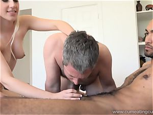 Niki Snow Makes husband gargle thick dark-hued wood