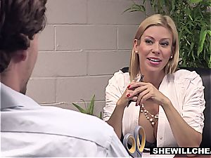 SheWillCheat - huge-boobed cougar chief romps new employee