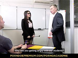 pornography ACADEMIE - schoolteacher Valentina Nappi MMF threesome