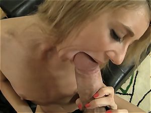 tanned blondie riding Rocco Siffredi