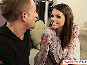 chesty Brooklyn chase gets plowed and facialized