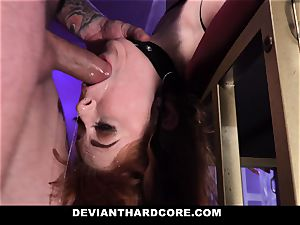 DeviantHardcore - scorching sandy-haired Gets mouth fucked
