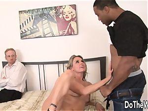 wifey Amanda blow opens up for dark-hued weenie