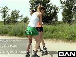 BANG.com: snatch gobbling teenager lezzies