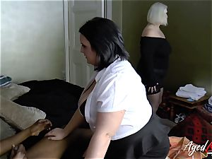 AgedLovE chesty hotel Maid Lacey Starr 3some