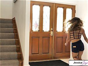 Jessica Jaymes and Liv Revamped smash a huge bone