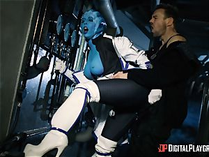 Space porno parody with super hot alien Rachel Starr