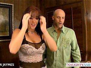 huge-chested black-haired Jayden Jaymes gets boned