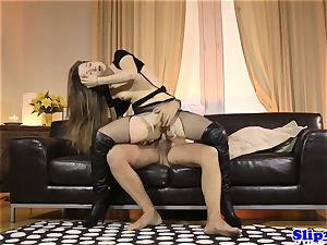 Glam eurobabe ass-fucked by brit geriatric