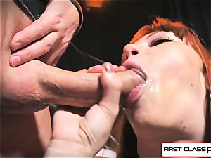 first Class point of view - Alexa Nova deep throating a hefty stiffy in point of view