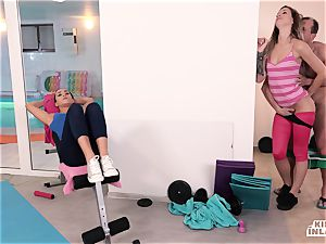 insatiable INLAWS - Czech stepdaughters plumbed in 3 way