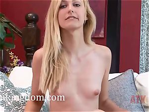 Alexa mercy shows her taut puss and caresses her pearl