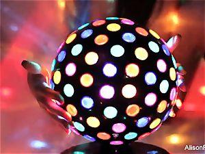 beautiful gigantic boobed disco ball babe