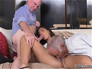 two aged and ash-blonde lady poke first time Going South Of The Border