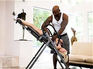 roll table and big black cock fun with Piper Perri