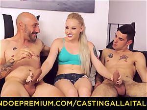 CASTNG ALLA ITALIANA - blond vixen rough double penetration sex