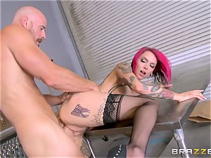 super-steamy manager Anna Bell Peaks rails her workers rod