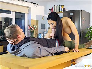 Aletta Ocean getting pummelled by Danny D's ginormous prick